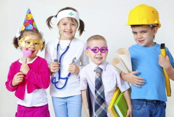 Дети примеряют на себя взрослые профессии