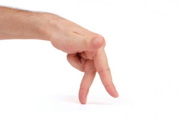 ходьба пальцами