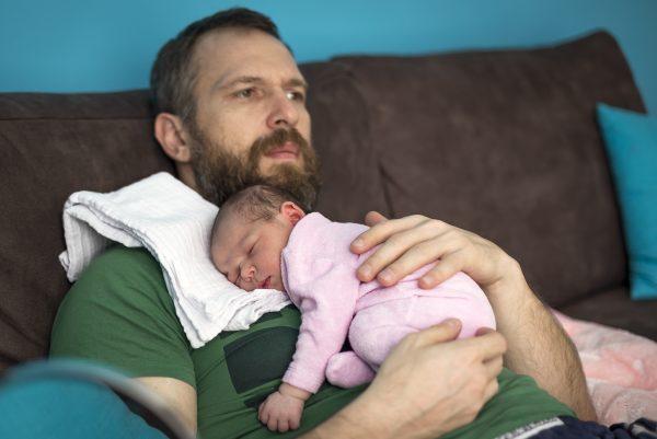 папа с малышкой