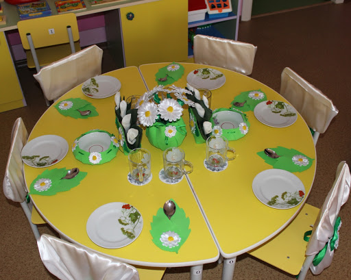 Сервировка стола в детском саду