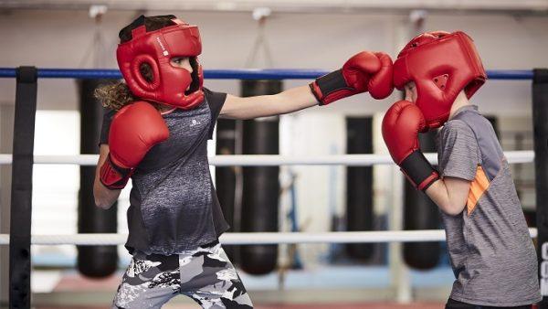 Детская тренировка по боксу