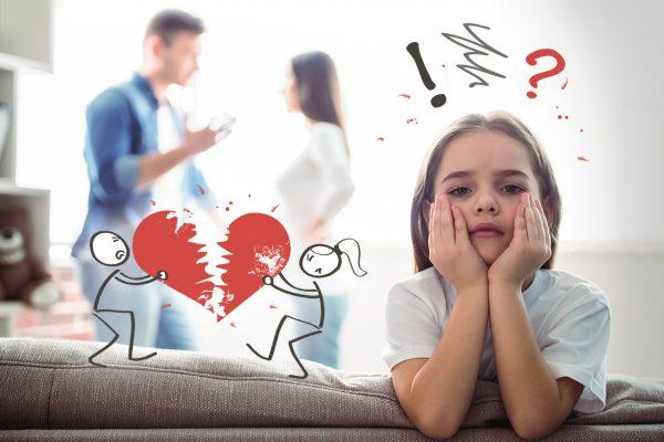 Девочка слушает ссору родителей