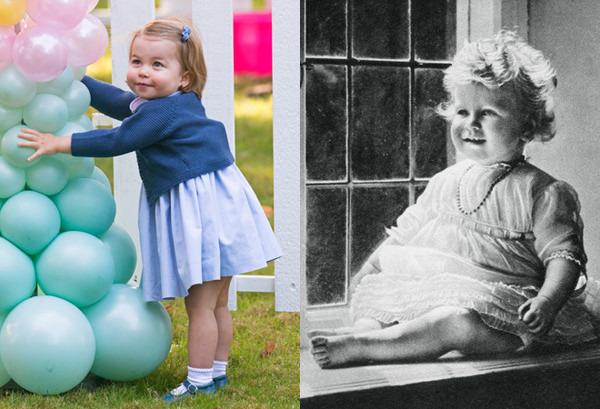 Сравнительные фото принцессы Шарлотты и королевы Елизаветы II в детстве