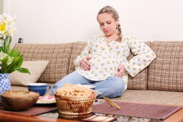 Беременная много ест