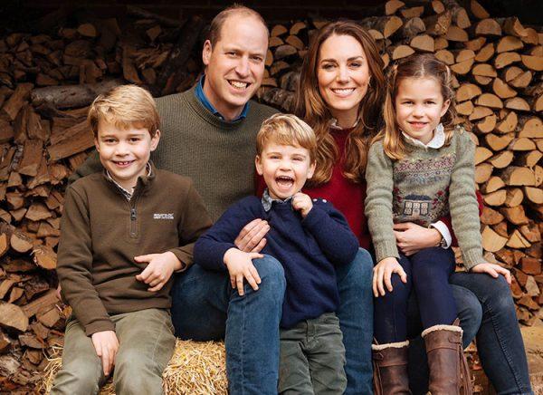 Рождественское фото четы герцогов Кэмбриджских