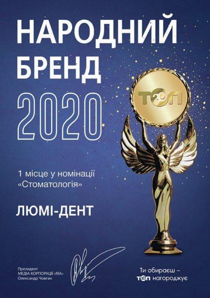 «Народный бренд 2020»