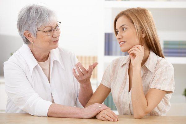 разговор мамы и бабушки