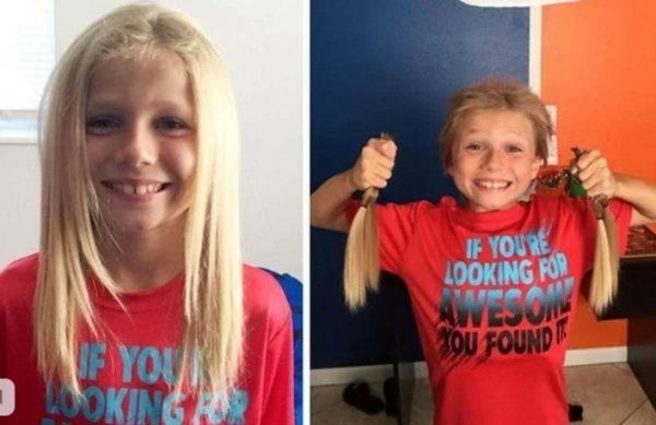 Мальчик отращивал волосы, чтобы отдать их облысевшим после лучевой терапии детям