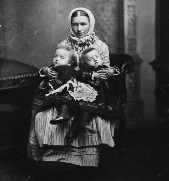Сестры Блажек с матерью