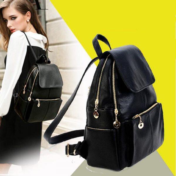 Девушка с модным рюкзаком. Фото pinterest