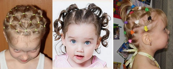 Babies with beautiful hairstyles