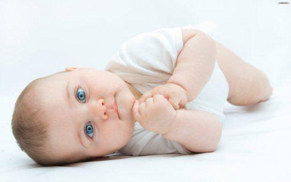 Curious newborn