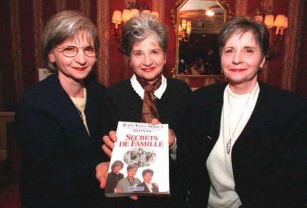 Ивон, Аннет и Сесиль Дионн со своей автобиографией