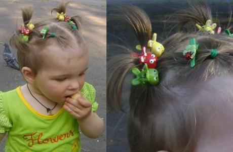 Funny ponytails