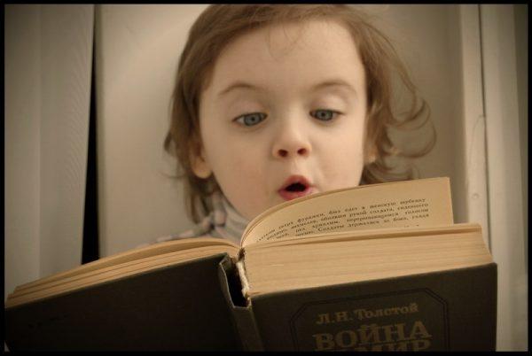 Girl reads aloud