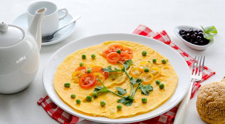 Omelet flower meadow