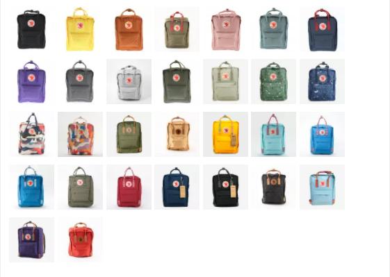 Цветовая гамма рюкзаков. Каталог baggins.ru