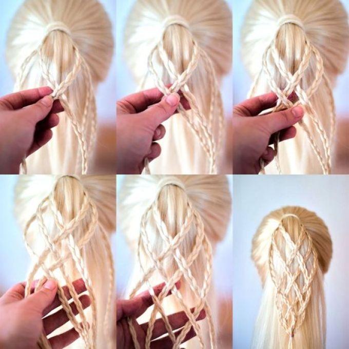 Weaving from fine braids