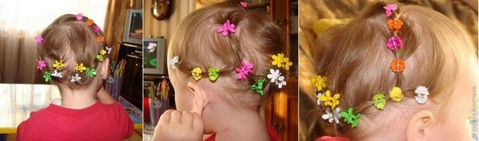 With hair clips