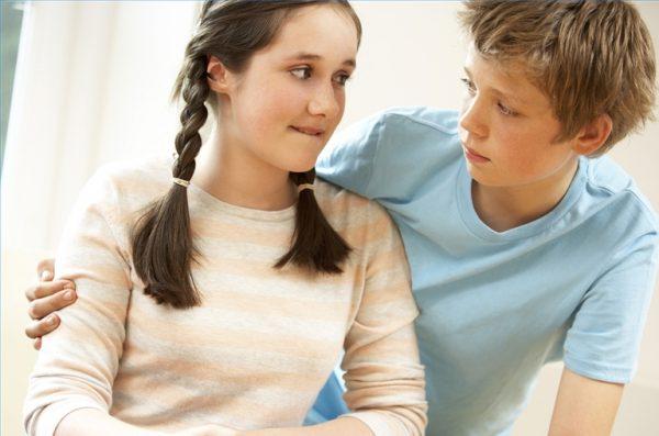 Первая любовь подростков