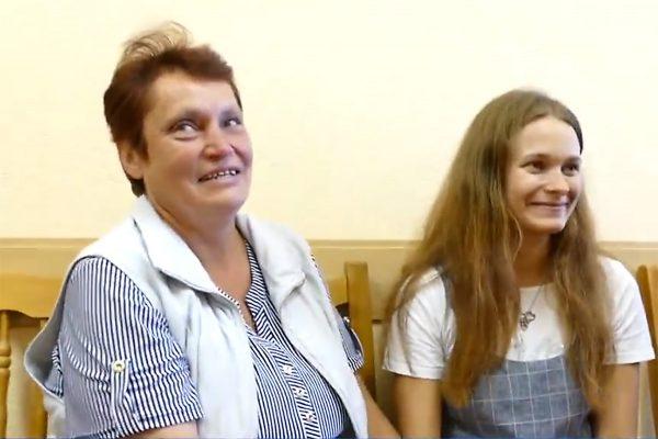 Юлия Горина с матерью