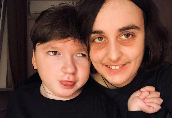 Лидия Мониава и Коля