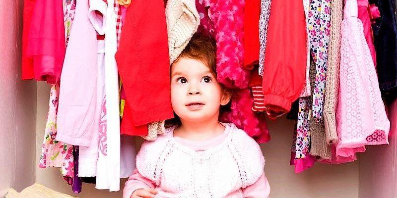 baby and wardrobe