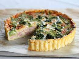 Ham and broccoli pie with cheese