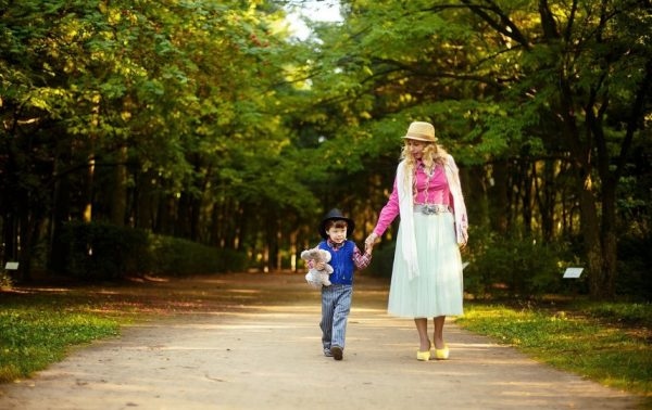 Walking with a child