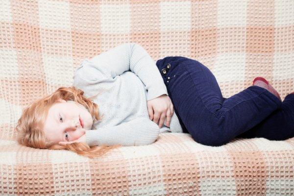 a child has a stomach ache