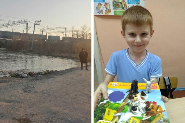 Максим Федоров и место, где нашли его тело. Фото novosibirsk.bezformata.com