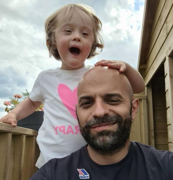 Лука Трапанезе с дочкой