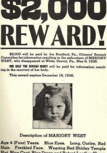 Объявление о поиске Марджори