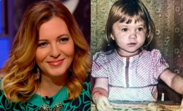 Ирина Полякова в детстве и сейчас. Фото из открытого доступа
