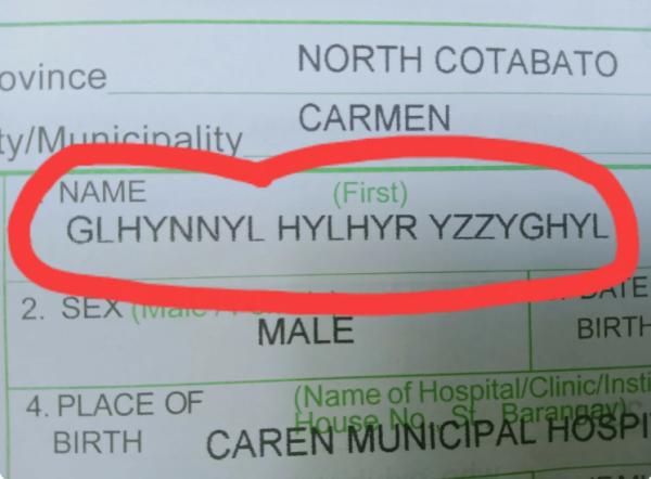 Имя мальчика в документах
