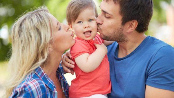 семья с малышкой