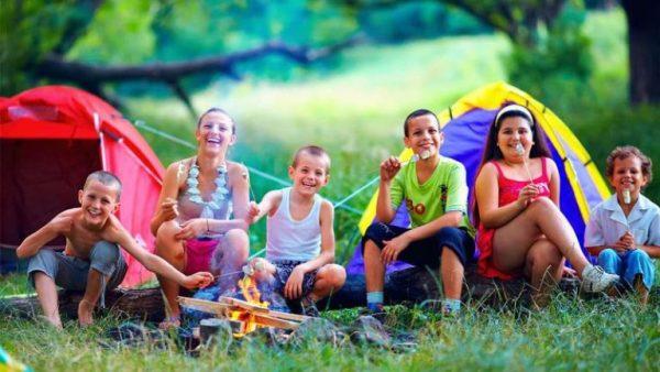 Дети палатки