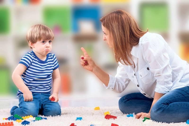Boy scolds mom