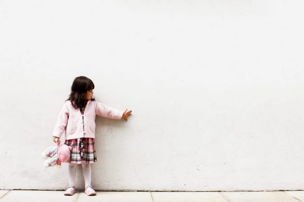 Girl and an imaginary friend