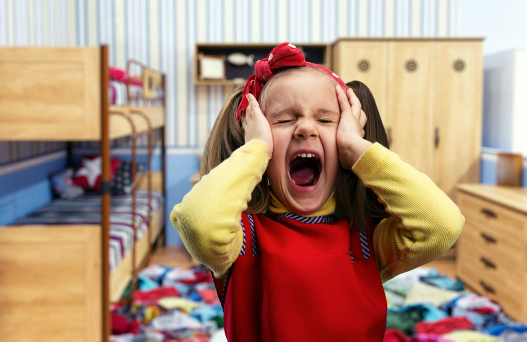 Girl screams