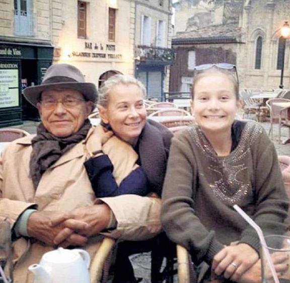 Julia Vysotskaya and Andrei Konchalovsky with their daughter Masha