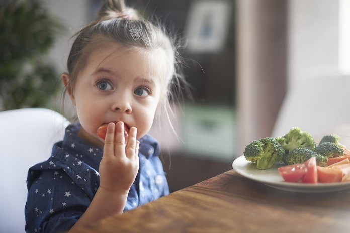 The child does not want to eat