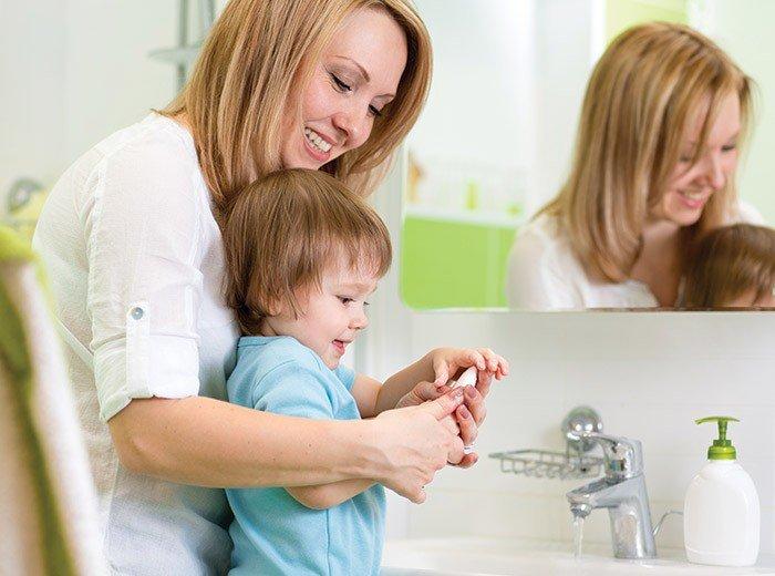 Wash their hands