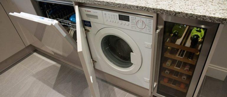 Встроенные стиральные машина с сушкой