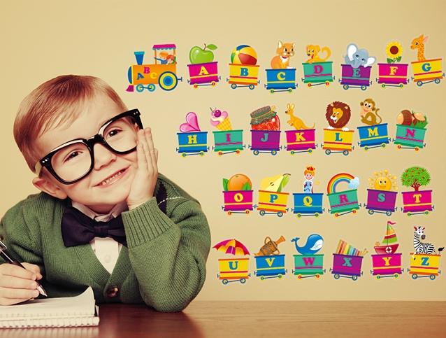 Boy learns english